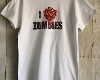 I Love Zombies Mens T Shirt