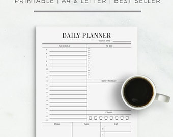 Work Day Planner | Daily Planner | Planner for Work