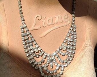Vintage 1930s diamante necklace