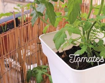 Mots à planter pour les amateurs de jardinage - étiquette de jardin - plantation - étiquettes personnalisées - impression 3D