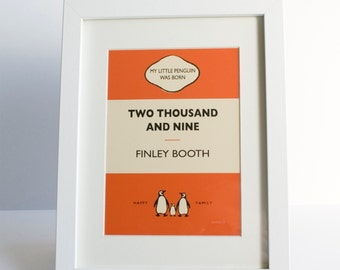 Personalised Penguin Style picture frames
