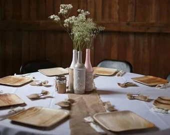 """Disposable Wooden Plates 