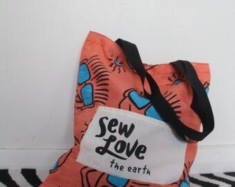 Sew Love The Earth Tote Bag