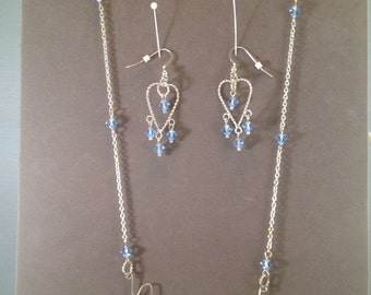 Handmade Sterling Silver Necklace and Earrings Set