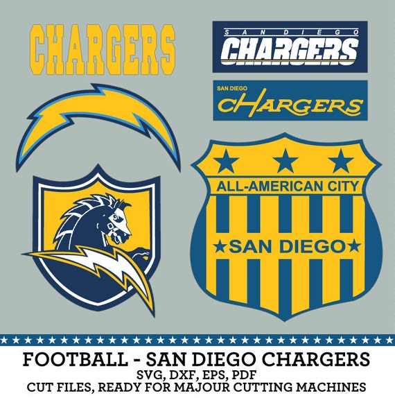San Diego Chargers Cuts: San Diego Chargers Football Logo SVG Dxf Eps By