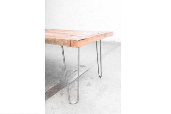 "16"" Hairpin Legs (Raw Steel) - Set of 4 Table Legs - Mid Century Modern - Industrial Strength"
