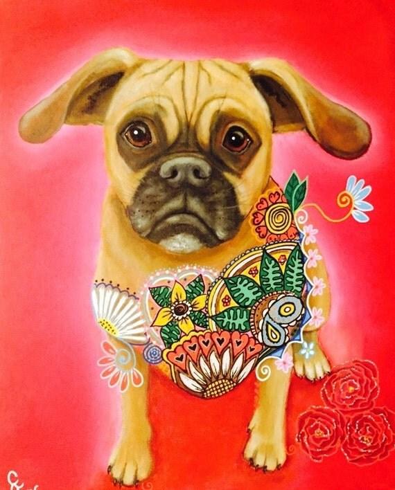 Puggle Dog Fine Art print by Carol Iyer