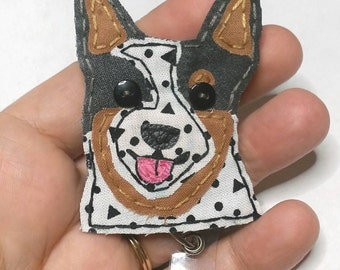 Blue Heeler Badge Reel,Blue Heeler Badge Card Holder,Blue Heeler,ID Holder,Australian Cattle Dog,Name Badge Holder,Badge Reel,Retractable