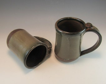 Beer Gifts/Beer Mug/Large Pottery Brown Coffee Mug/Tea Mug/Beer Stein-Set of 2