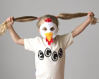 Organic Egg Kids Shirt, toddler gift, funny t-shirt, chickens, gift for kids, chicken eggs, organic clothing, organic cotton, made in usa
