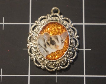 Sugar Glider Sparkling Elizabethan Style Pendant, 50% goes to the charity of the month