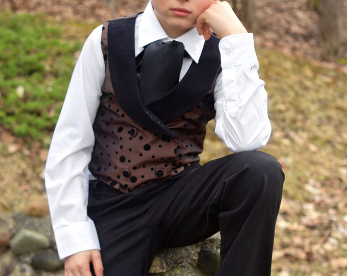 Little Boy Formal Wear - Boys Dress Clothes - Wedding Ring Bearer Outfit - Boutique Toddler Boy Attire - Edgy - Steampunk - 2T to 10