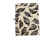 Star Birds - 100% Recycled Handprinted Notebook