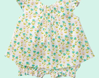 """BABY dress pattern, DRESS or BLOUSE with panties, digital sewing pattern, sized to fit ages new born through 24 months, """"The Kailyn Pattern"""""""