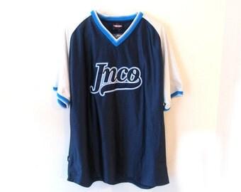 JNCO Jeans 90s V Neck Jersey Sporty V Neck L USA