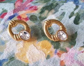 Vintage SAL Door Knocker Hoop Earrings