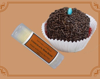 CHOCOLATE BON BONS Lip Balm made with Shea Butter - .15oz Oval Tube