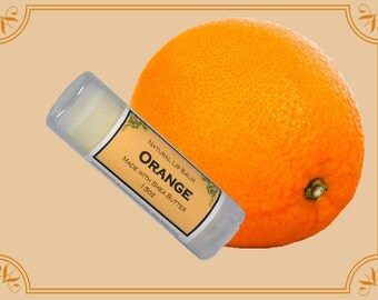 ORANGE Lip Balm made with Shea Butter - .15oz Oval Tube