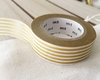 Gold Washi tape gold border stripe Japanese - PrettyTape