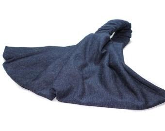 Spandex Headwrap Navy Blue Knit Bandana Hair Loss Headband Post Surgery Gift Alopecia Headscarf Plain Hair Band (#2853) S M L