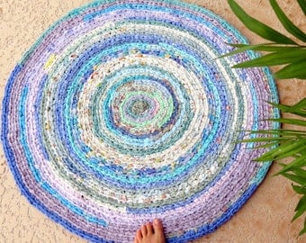 "rag rug, baby, bedding, Lilly Pulitzer bedding, ""braided"" rug, kumari garden, lavender rug, girl crib bedding, baby bedding, crib skirt #59"