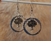 Textured Tree Rings - Surgical Steel Earrings, Titanium Earrings, OR Niobium Earrings for Sensitive Ears - Hypoallergenic and Nickel Free