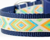"Tribal Dog Collar - Native Dog Collar - Tribal Collar - Indian Dog Collar - Martingale Collar - 3/4"" or 1"" Wide"
