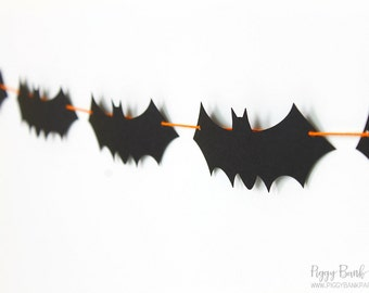 Bat Garland - Large : Handcrafted Vampire Bat Bunting | Super Hero Party Decoration | Halloween Photo Booth Decoration | Dracula | Bat Wings