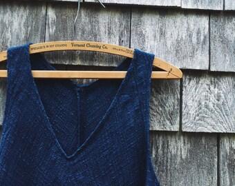 A-Line Dress, Mini Length, Deep Indigo, L