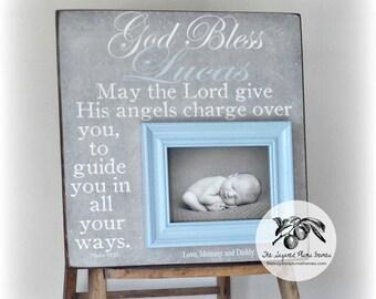 Baptism, Baptism Gift, Godson Gift, Baptism Gifts for Godchild, First Communion Gift, Personalized Baby Baptism Gifts, Baby Boy, 16x16