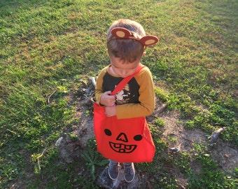 Pumpkin Trick or Treating Tote Bag