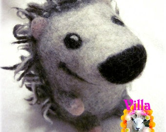 HEDGEHOG Toy or Mascot hand felted - Made To Order