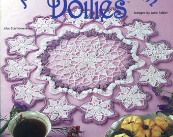 PASTEL BLOSSOM DOILIES Thread Crochet House of White Birches 101141