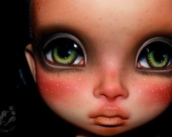SALE Disney Animators doll custom ooak repaint artist fantasy Pocahontas hollow forest woods nature - Wild Heart