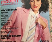 March 1978 Burda Moden Fashion Magazine and Pattern Book with English and German Supplement