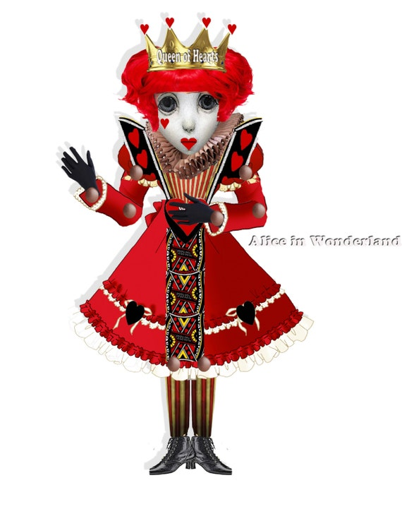 Queen of Hearts Paper Doll