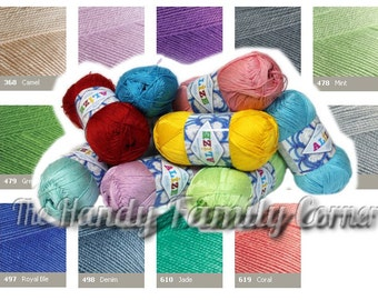 Mercerized cotton yarn Alize Miss. Hypoallergenic crochet thread. Tatting thread. Color choice. DSH