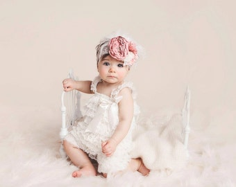 lace headband, baby headband, newborn headbands, baby headband, girl lace headband, baby headband, girls headband, pink headband, feather