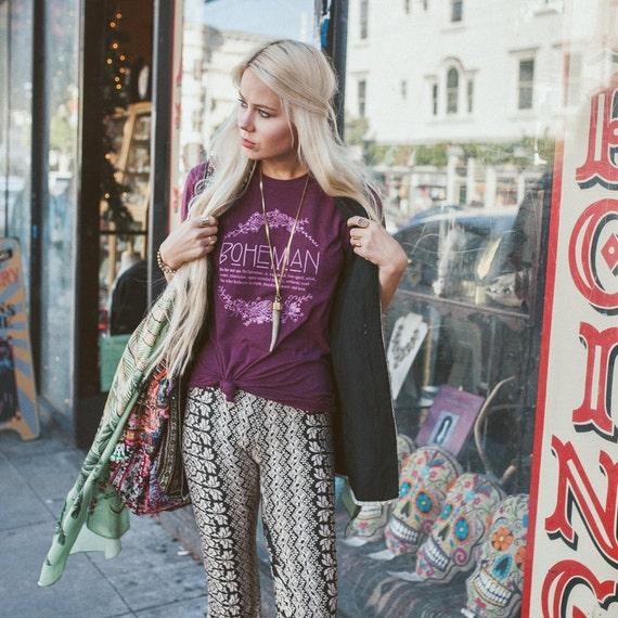 Boho shirt medium bohemian definition graphic tees for for Define boho fashion