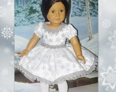 The Nutcracker Snow Queen Ballet Costume fits American Girl Dolls