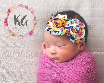 SALE - Baby girl headband,  baby headbands, newborn headband, baby girl, flower headband, baby accessories, headband for baby, baby