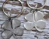 lucky four leaf clover keychain, Irish keychain, talisman, good luck charm, Irish symbol, Irish key ring, St Patricks Day, good luck charm