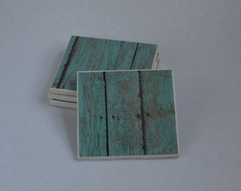 Recycled Tile Drink Coasters - Set of 4