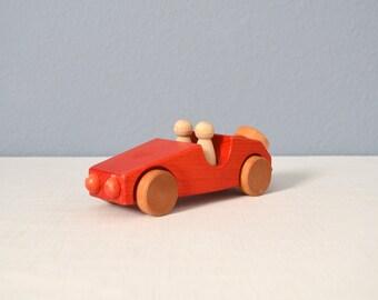 Vintage Weizenkorn Handmade Swiss Wooden Car Toy