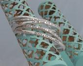Mantra Bracelet - Engraved Cuff Bracelet - Personalized Cuff Bracelet -  Hand Stamped - Sterling Silver Cuff