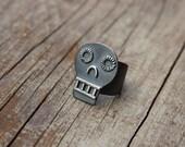Silver Calavera ring #5