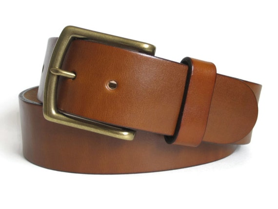 leather belt mens light brown leather belt by angelleathershop