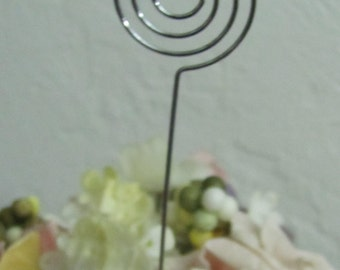 24 silver wire picks table number picks wedding card holder picks picks for