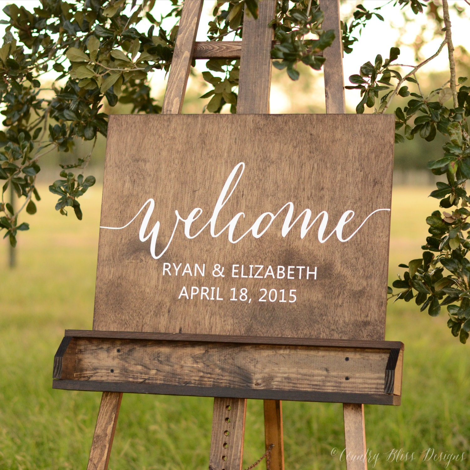Welcome Wedding Sign Wooden Welcome Sign By