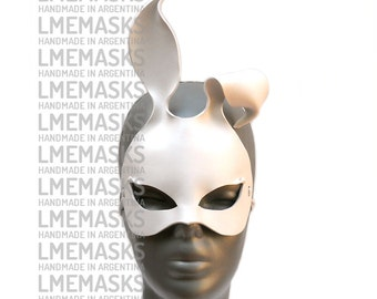 Leather Mask Bunny White Rabbit Sexy Playboy Masquerade Erotic Fetish Halloween Catwoman Costume Carnival Lady Gaga Party Ball Eyewear Hot